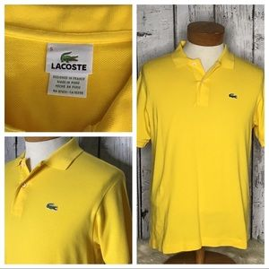 Lacoste polo yellow size 5